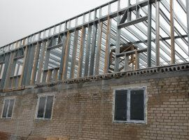 Надстройка этажа над бывшем здания склада