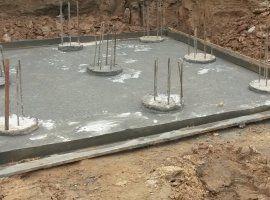 Буронабивные сваи с бетонной подготовкой под отдельно стоящий фундамент