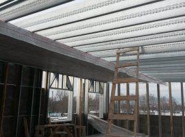 Каркас из легких стальных тонкостенных конструкций (ЛСТК)