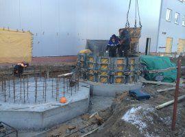 Армирование/установка опалубки фундаментов под химическое оборудование